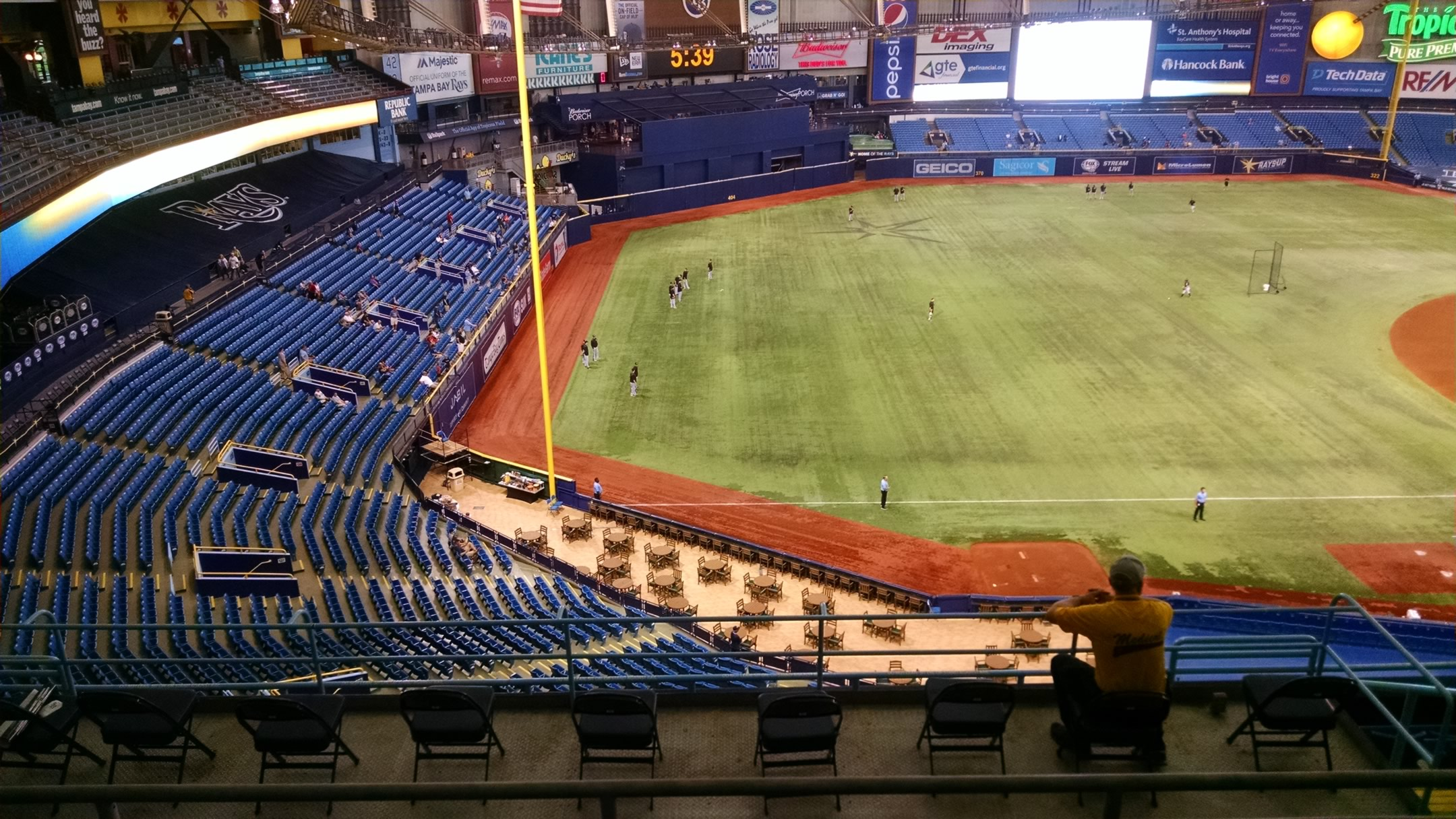 Tropicana Field Lower Level Outfield Baseball Seating